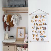 ABC textielposter