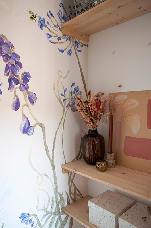 Behang bloemenvallei