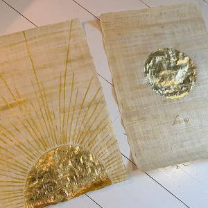 Zon en maan papyrus papier