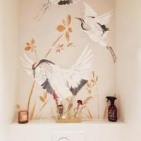 Behang kraanvogels Naturel