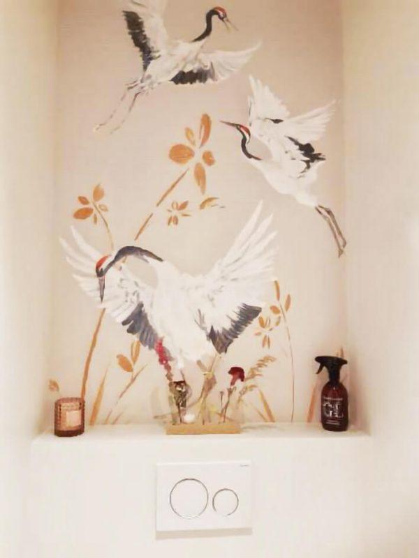 Naturel kraanvogel behang
