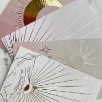 Set goudfolie kaarten