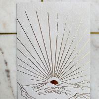 Ondergaande zon goudfolie